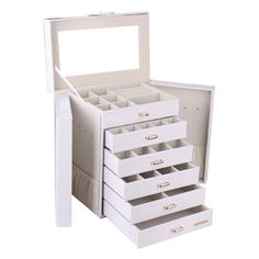 Amazon.com - Extra Large Jewelry Box Cabinet Armoire Bracelet Necklace Storage Case Zg231 (White) -