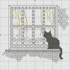 Blackwork - Cat on Window Sill (1 of 4)