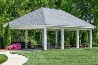 """Picnic Pavilion - At www.kellswater.com, you'll see how our pocket #parks, walking #trails, tree-lined streets and front #porches give you the small-town feel you're craving...and features like our multi-million-dollar Kellswater Club offer the exclusive, """"big city"""" amenities you've always dreamed of.  And all within 20 minutes of #uptown #Charlotte, #NC!  You really *can* have it all at the #Kannapolis area's premiere, exclusive, #master-planned community, #Kellswater!"""