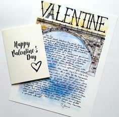 I am loving sending out Valentine Paris Letters for people at JaniceArtShip on Etsy