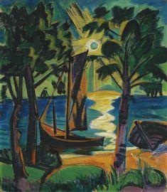 "Hermann Max Pechstein ""In the Lagoon"", 1919"