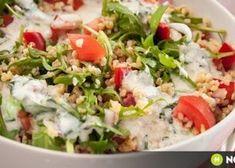 Startlap recept Thing 1, Kefir, Cobb Salad, Potato Salad, Diet Recipes, Grains, Food And Drink, Rice, Meat