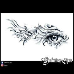 37 ideas for eye tattoo design clock Art Drawings Sketches, Tattoo Sketches, Tattoo Drawings, Body Art Tattoos, Wing Tattoos, Drawing Art, Horus Tattoo, Rabe Tattoo, Sketch Tattoo Design