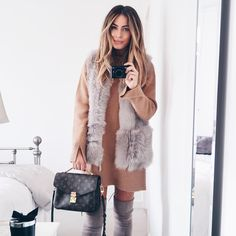 Coming shopping for a very exciting purchase at link is in my bio! Fall Winter Outfits, Autumn Winter Fashion, Fall Fashion, Autumn Style, Winter Wear, Winter Style, Lydia Elise Millen, Viernes Casual, Pochette Louis Vuitton