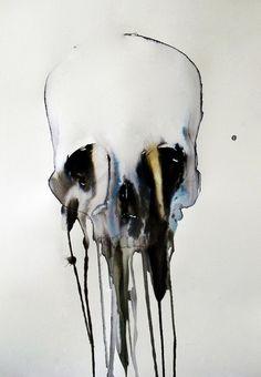 Dripping Skull nº22. Art Print