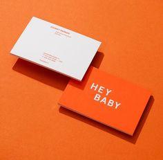 Brand Identity for Hey Baby by @funkhaus. #orange #logodesign #logo #printdesign #branding #brandidentity #print #stationery #stationerydesign #identity #inspiration #identitydesign #design #designstudio #designblog #thedsgnblog #thedesignblog #type #typography #typographyinspired #visualidentity #visualcommunication #visual #funkhaus