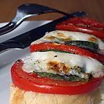 recette Tartines Italiennes (weight watchers propoints)