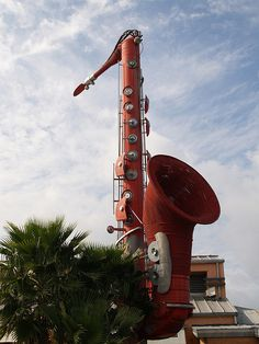 Houston Texas Southwest Saxophone Made of Volkswagen Beetles VW Art P1299034 by mrchriscornwell, via Flickr