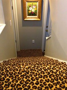 Install a bold cheetah carpet if you're not ready to give your stairs the major overhaul they need. http://www.ivillage.com/staircase-designs/7-a-533138