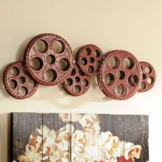 Red Movie Reels Wall Plaque | Kirklands 59.99