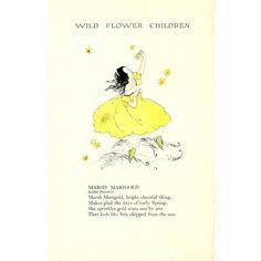 Wild Flower Children c1918 Marsh Marigold Canvas Art - Janet Laura Scott (18 x 24)