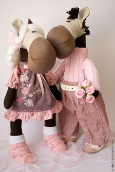 Dolls and handmade toys.  Fair Masters - handmade set for the manufacture of Horses.  Handmade.
