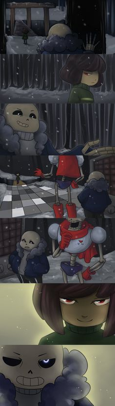 """I know that you know sans, so tell me.....are you ready to see your brother die again?"""