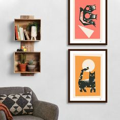 Yetiland's Official Shop featured by Curioos : Numbered & Signed Art Prints, Canvas, Metal Prints, Exclusive T-shirts. Giraffe, Elephant, Geometric Bear, Animal Art Prints, Animal Kingdom, Gallery Wall, Canvas, Animals, Tela