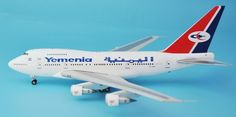(224.00$)  Buy here  - new rare Fine Inflight 1: 200 Yemen Airways B747SP 7O-YMN Alloy aircraft model Collection model Holiday gifts