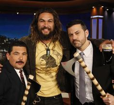 Throwing tomahawks drinking Guinness Me  Guillermo And my jimmy  Watch me on @JimmyKimmel – Tonight on ABC! #KIMMEL. @netflix @discoverycanada  #frontier.  @blkwlfco  BLACK WOLF CO