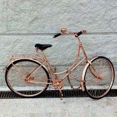 Rose gold bicycle