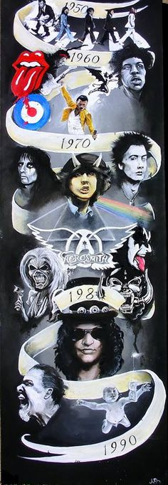 Only good bands/artists on there are Guns N' Roses and Aerosmith but I mean, y'know. Rock Posters, Concert Posters, Guns N Roses, Freddie Mercury, Concert Rock, Rock Y Metal, Share Pictures, Poster Art, Love Rocks