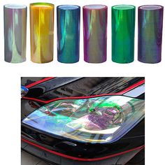 New Chameleon Changing Tint Wrap Sticker Headlight Film Car Light Lamp
