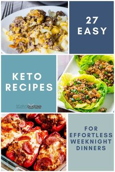 I've put together my favorite effortless and easy Keto recipes to make your Keto diet less boring without the work. The perfect dinners for busy weeknights! Low Carb Shrimp Recipes, Salad Recipes Low Carb, Low Carb Dinner Recipes, Keto Recipes, Chicken And Beef Recipe, Slow Cooker Chicken, Snacks To Make, Low Carb Meal Plan, Quick And Easy Breakfast