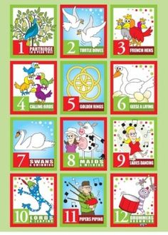 vintage twelve days of christmas stationary - Google Search