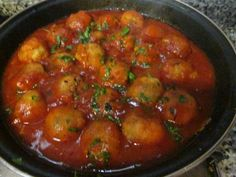 Albóndigas de pollo en salsa napolitana Receta de Gabriela Diez - Cookpad