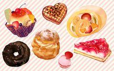 Pastries ~ illustration