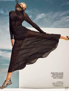Sasha Luss by Nathaniel Goldberg for Vogue China June 2014