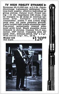 Electro Voice 655 ad (Sinatra not included!)
