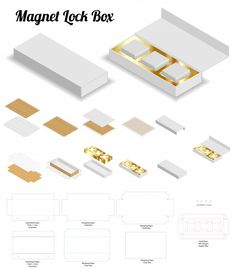 Magnet Lock Rigid Box Mockup With Dieline Modern Business Cards, Business Card Mock Up, Chocolate Box Packaging, Easy Paper Crafts, Craft Box, Diy Box, Wedding Invitation Cards, Corporate Gifts, Packaging Design