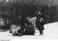 Millions of Germans and ethnic Germans were now refugees fleeing west. Tens of thousands would not survive the arduous trek in the extreme cold - with a high proportion of children falling victim.