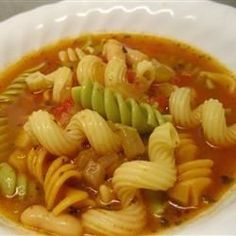 A traditional Italian soup. Serve with a crisp salad and a hot loaf of garlic bread and you have a meal! Serve with grated Parmesan cheese on top.