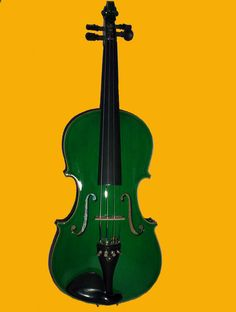 Just bought a green violin, just because it was green and beautiful! Now for lessons...