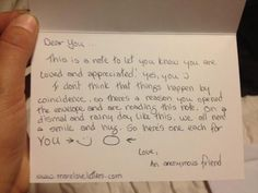 Write a loving letter to a total stranger of to a neighbour you never speak to.