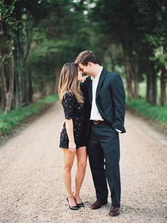 Engagement Session Outfit Ideas for classy, black tie sessions