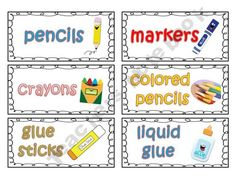 FREEBIE: 42 Classroom Supply Labels (great for organizing kids art supplies at home too)