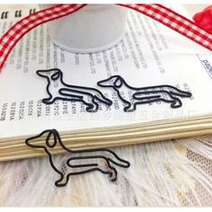 Dachshund Shaped Paper Clips: