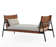 Traveller daybed by GamFratesi for Porro (2015), a contemporary daybed that elegantly captures the spirit of travelling.