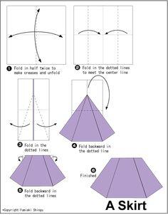 Easy origami skirt