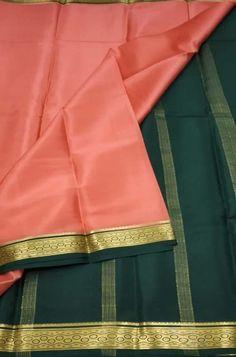 Pink Handloom Mysore Crepe ... Crepe Silk Sarees, Silk Crepe, Pink Fabric, Woven Fabric, Mysore Silk Saree, Color Schemes, Lady, R Color Palette, Colour Schemes