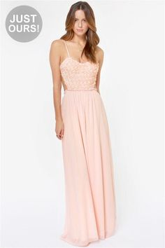 LuLu*s Exclusive! When you walk into a room donning The Prettiest Rose Light Pink Maxi Dress, the...