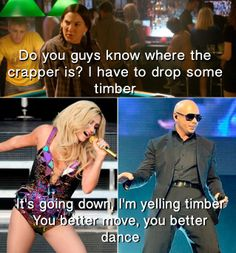 This House Bunny quote always pops into my mind when I hear the Ke$ha/Pitbull song