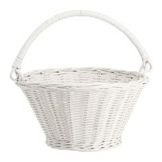 Pottery Barn White Sabrina Easter Basket Collapsible - Small ($20) ❤ liked on Polyvore featuring home, home decor, holiday decorations, wicker easter baskets, pottery barn easter baskets, white easter basket, white home accessories and white wicker easter baskets