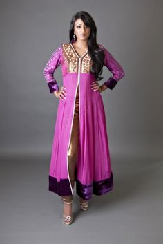 Best Quality Anarkali Front Open Frocks with Trousers (4)