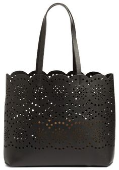 Chelsea28 Lily Scallop Faux Leather Tote - Black