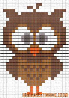 New crochet bookmark owl cross stitch Ideas Owl Patterns, Alpha Patterns, Bead Loom Patterns, Perler Patterns, Bracelet Patterns, Beading Patterns, Cross Stitch Owl, Cross Stitch Charts, Cross Stitching