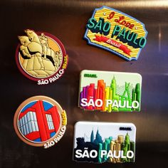 Souvenir São Paulo - Imãs de geladeira em PVC 3D.