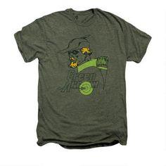 Green Arrow Close Up Adult Premium Moss T-shirt |