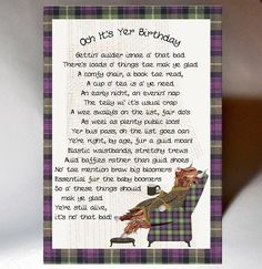 Varnish highlight, matt board, Blank Inside personalisation is not available on this card Birthday Words, Birthday Quotes, 50th Birthday, Happy Birthday, Scottish Poems, Scottish Sayings, Gaelic Quotes, Pinterest Birthday Cards, Highland Cow Art