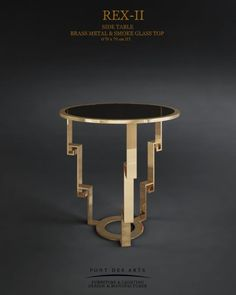 Rex-II-Side Table Design Furniture, Metal Furniture, Table Furniture, Modern Furniture, Sofa Side Table, End Tables, Center Table, Art Deco, Chair